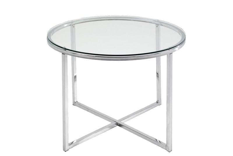Masuta din sticla Cross Round, Ø55xh45 cm