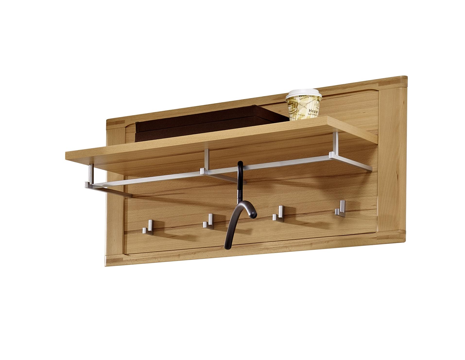 Cuier cu etajera din pal, Natur Plus, l90xA32xH45 cm