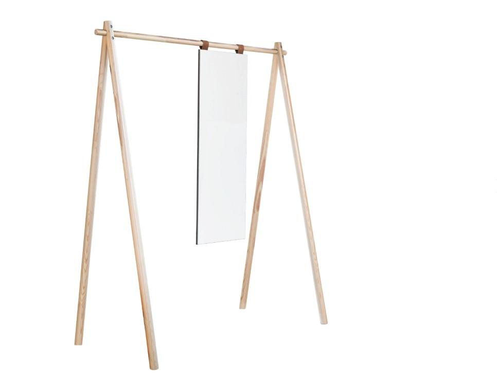 Cuier din lemn de pin cu oglinda Hongi Natural l150xA74xH177 cm