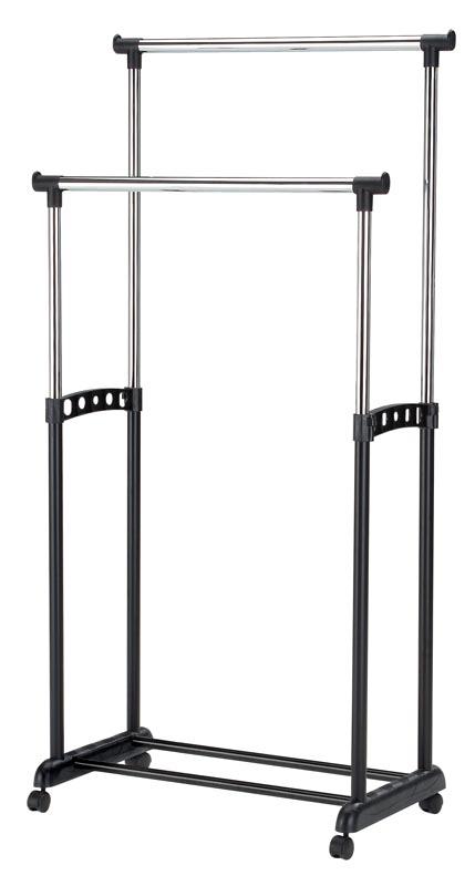 Cuier din metal si plastic WU-10 Negru / Crom, l88xA44xH94-168 cm