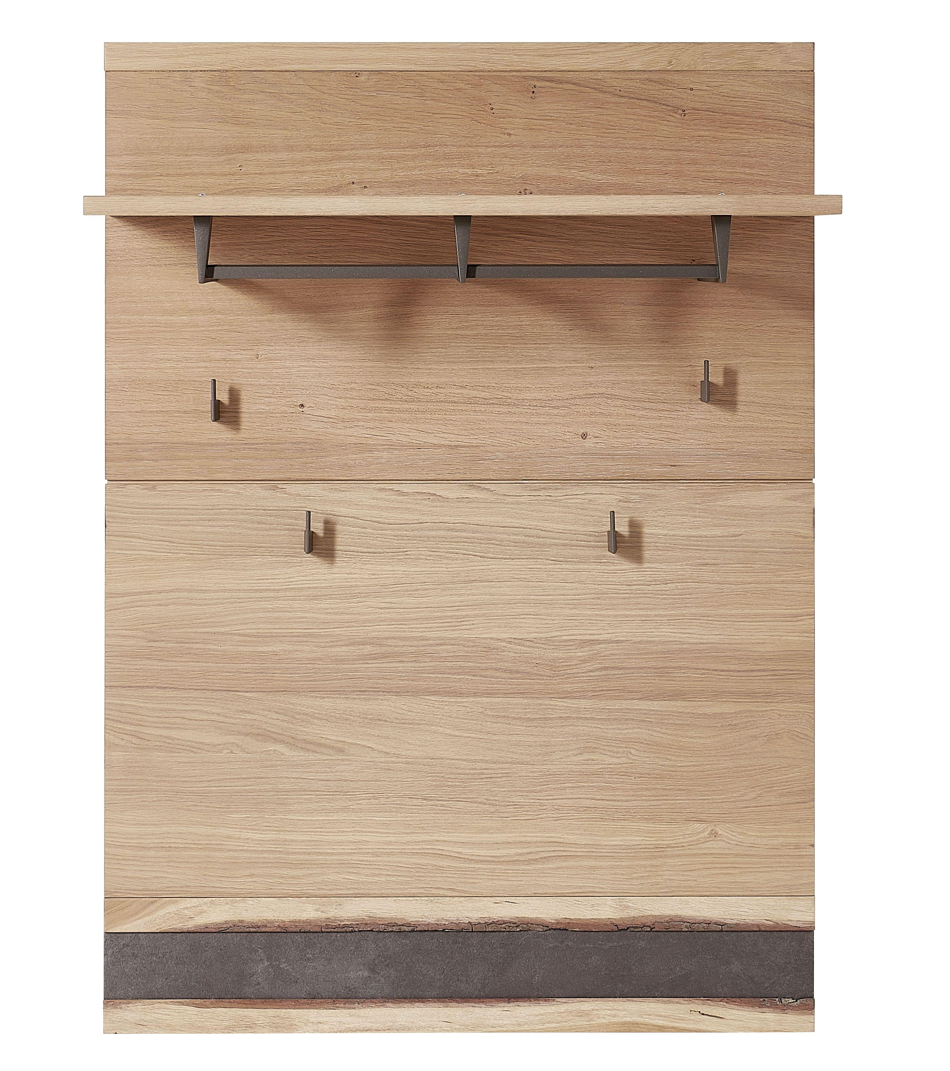 Cuier hol din furnir si lemn Crispin Natur, l84xA30xH117 cm somproduct.ro
