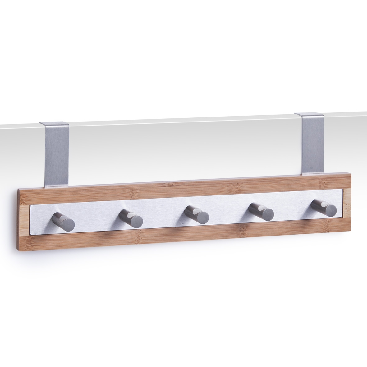 Cuier pentru usa, din metal si bambus, Scandi Natural, l36xA6xH12 cm