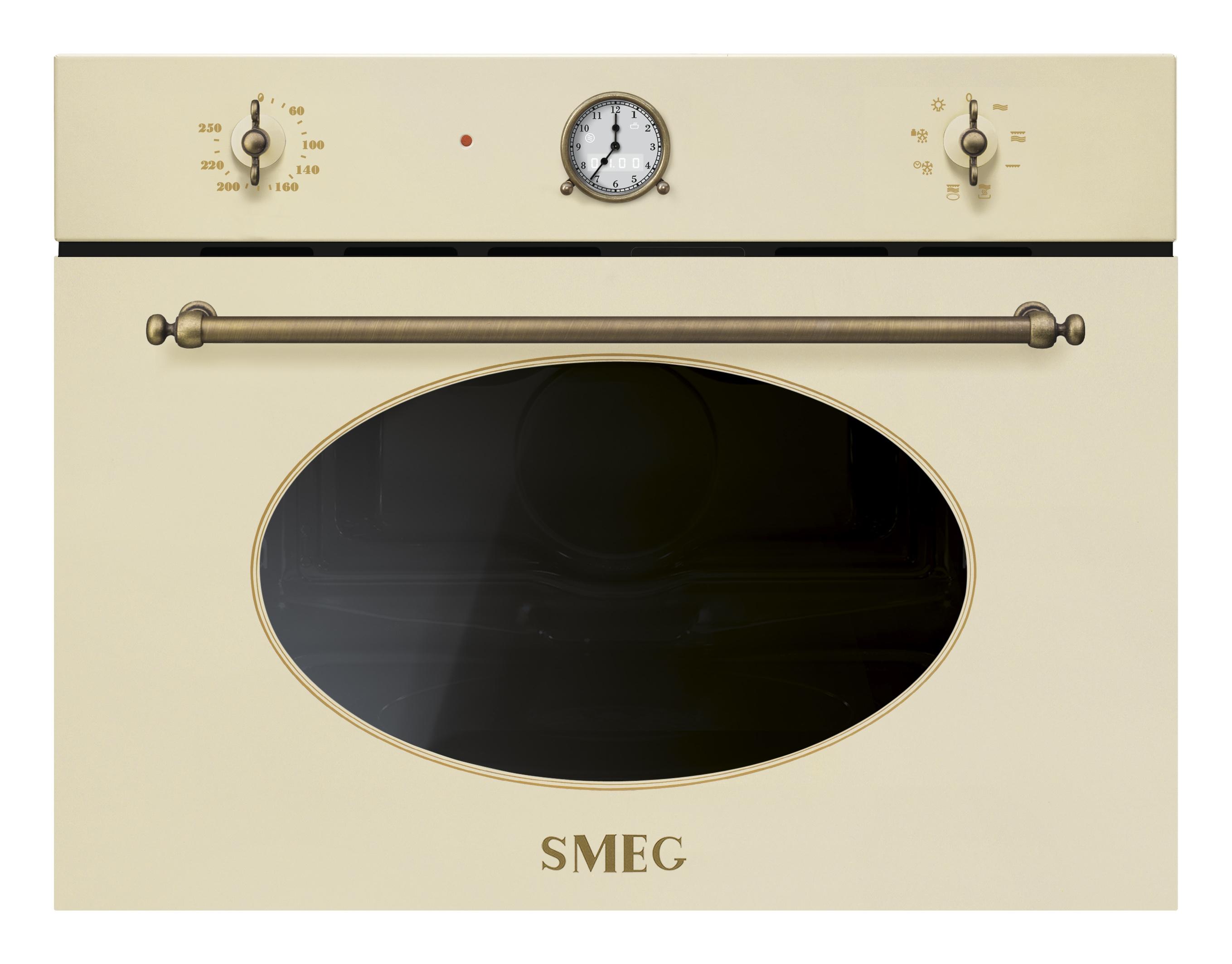 Cuptor incorporabil cu microunde si grill SF4800M compact 60x45 cm Coloniale SMEG