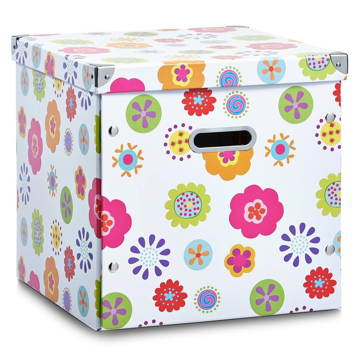 Cutie decorativa pentru depozitare, din carton, Kids Multicolor, L33,5xl33xH32 cm imagine