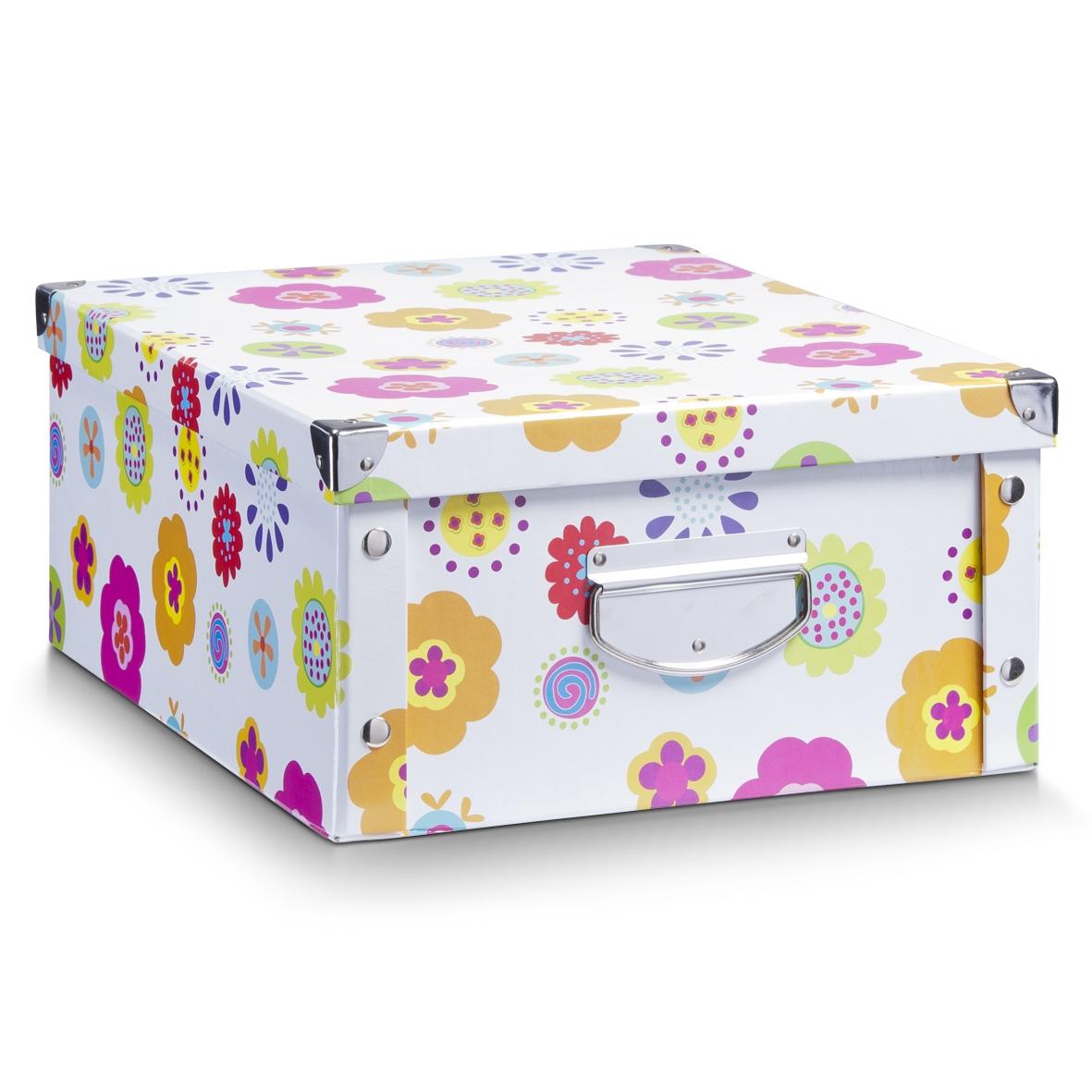 Cutie decorativa pentru depozitare, din carton, Kids Multicolor, L40xl33xH17 cm imagine