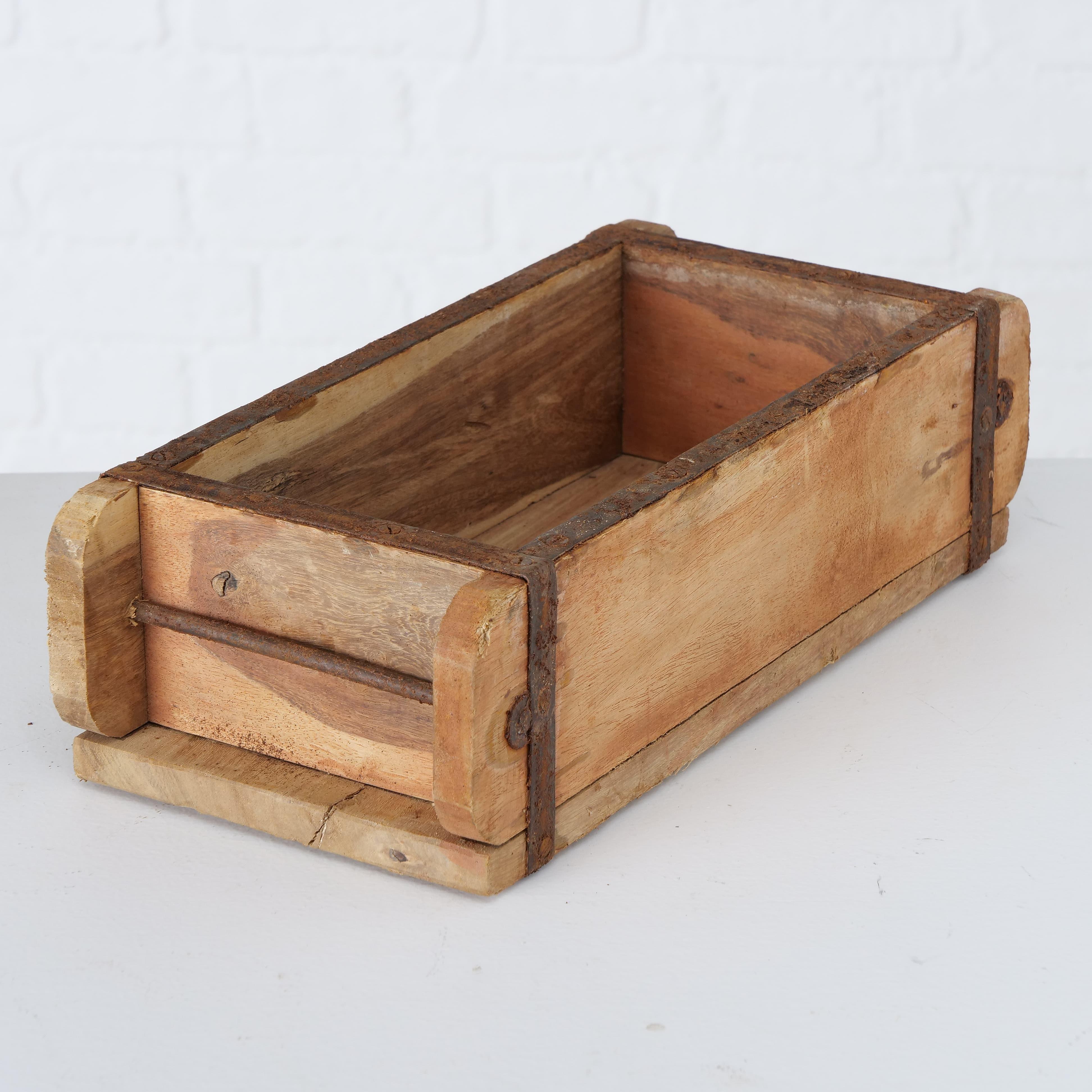 Cutie depozitare din lemn Rygge Natural, L32xl12xH10 cm