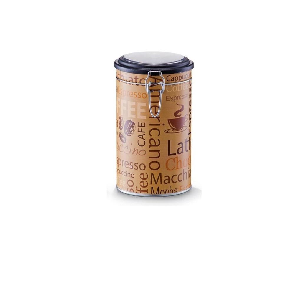 Cutie metalica pentru cafea, cu capac Americano Camel / Multicolor, Ø11xH20 cm imagine