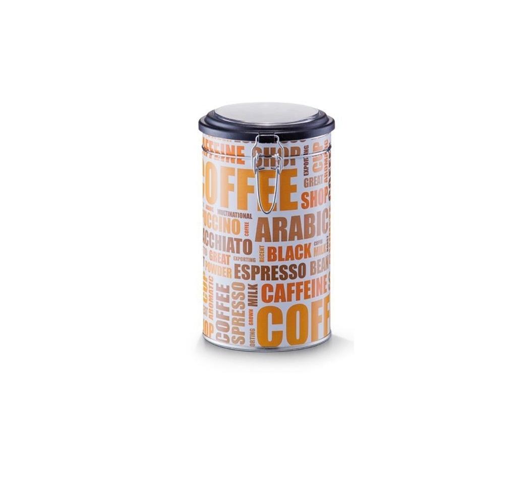 Cutie metalica pentru cafea, cu capac Coffee Alb / Multicolor, Ø11xH20 cm imagine