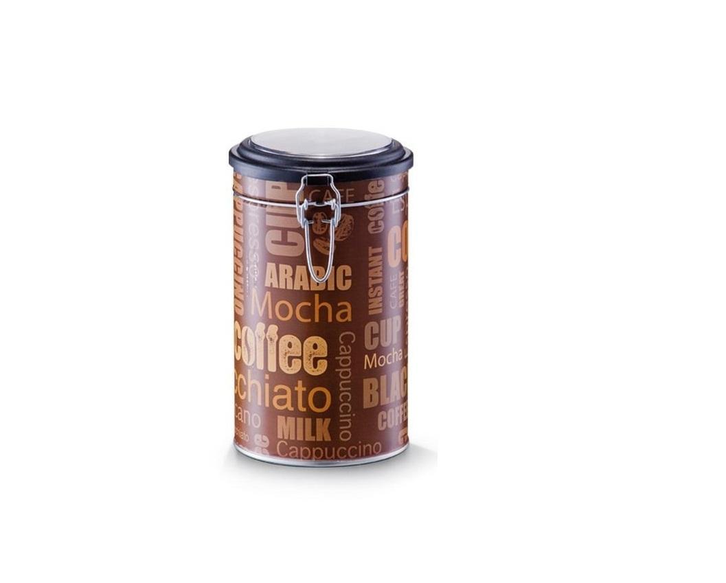 Cutie metalica pentru cafea, cu capac Mocha Coffee Maro / Multicolor, Ø11xH20 cm imagine