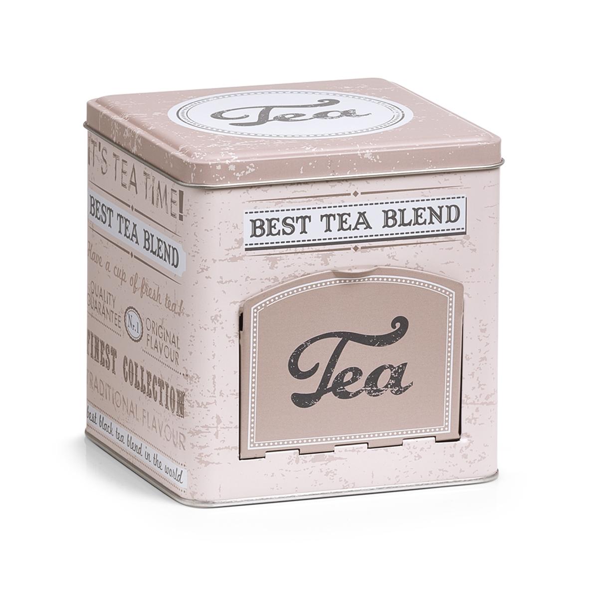 Cutie metalica pentru ceai Tea cu capac Multicolor l13xA13xH136 cm