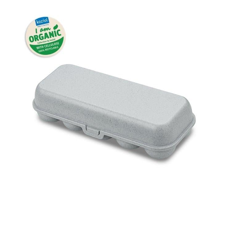Cutie pentru depozitare 10 oua, 100% Reciclabil, Eggs To Go Gri, L27,7xl11,8xH7,3 cm imagine