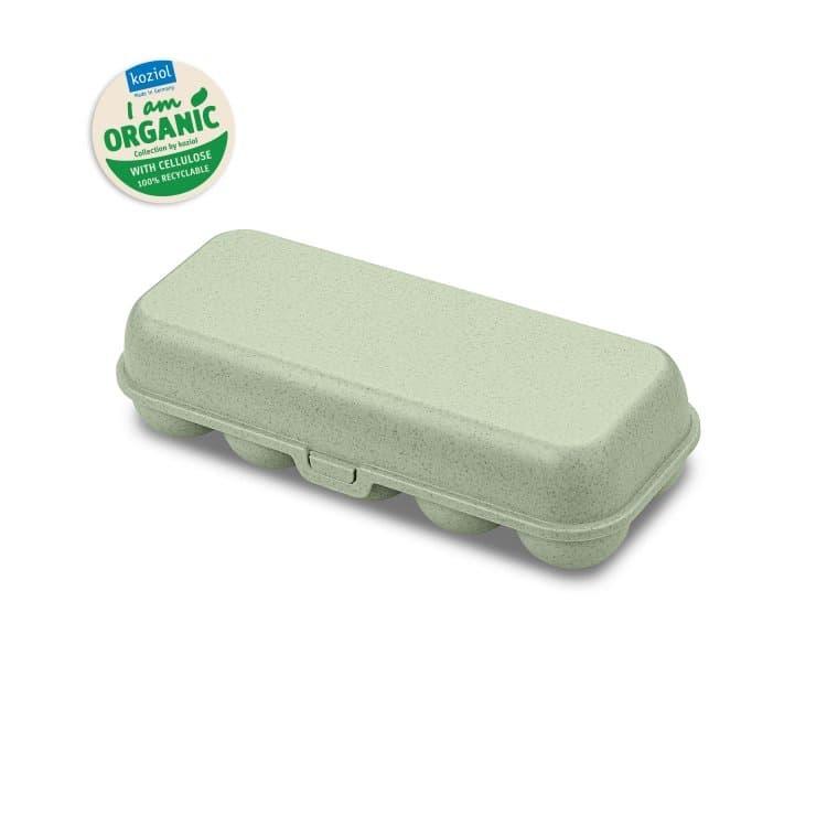 Cutie pentru depozitare 10 oua, 100% Reciclabil, Eggs To Go Verde, L27,7xl11,8xH7,3 cm poza