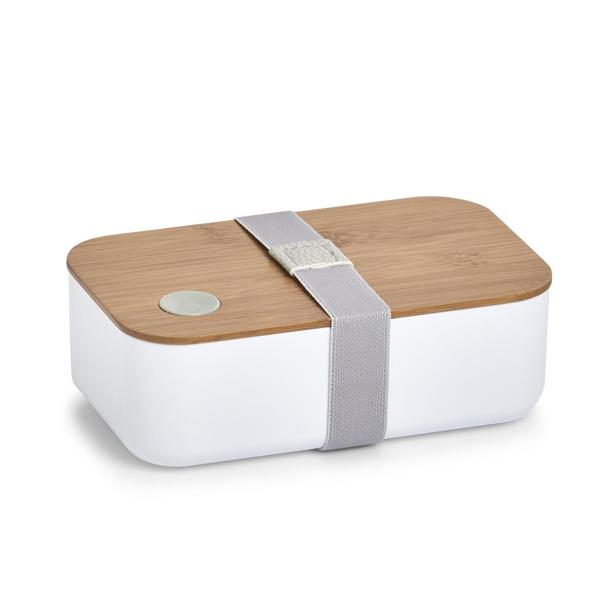 Cutie pentru depozitare Bamboo Alb, L19,3xl11,8xH6,8 cm poza