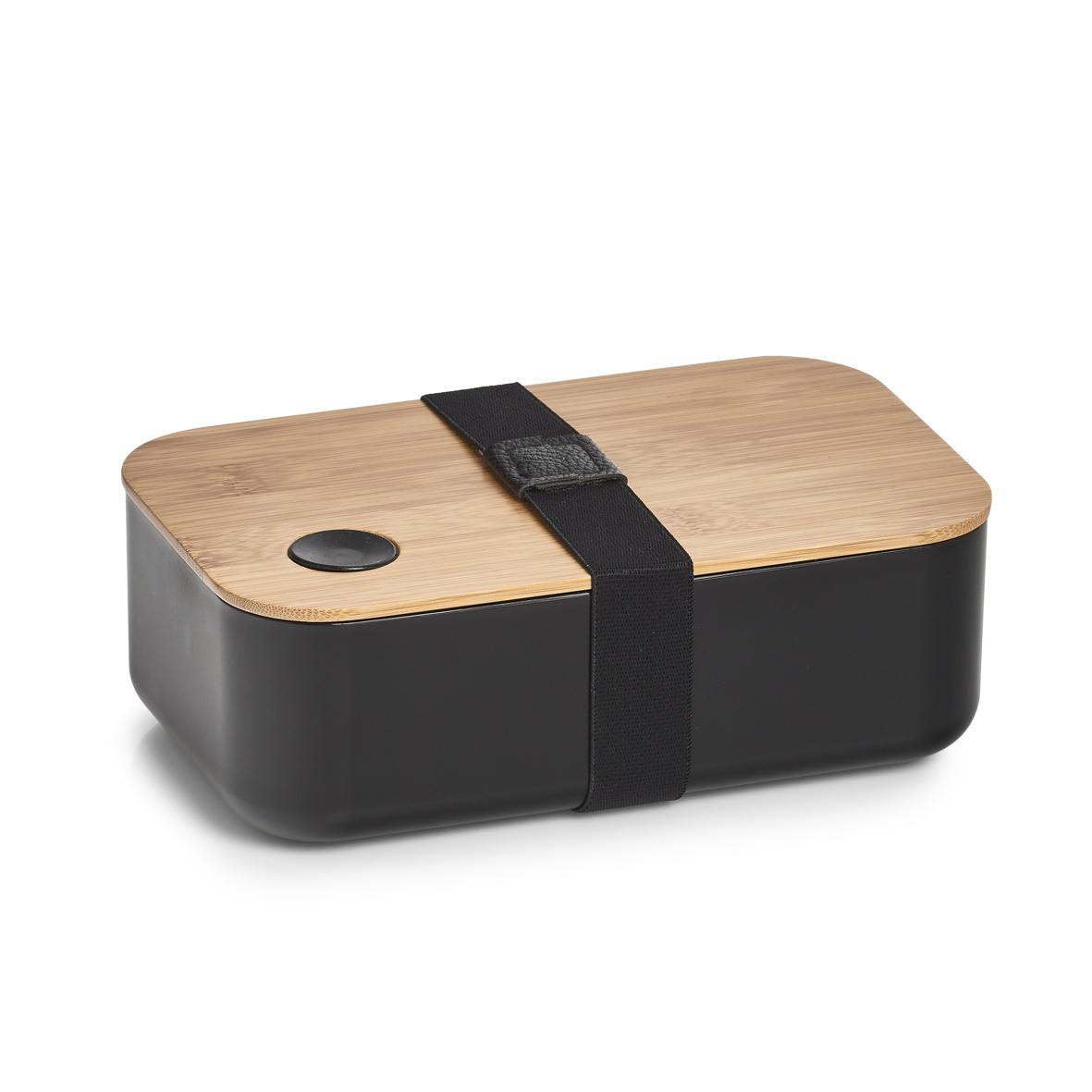 Cutie pentru depozitare Bamboo Negru, L19,3xl11,8xH6,8 cm imagine