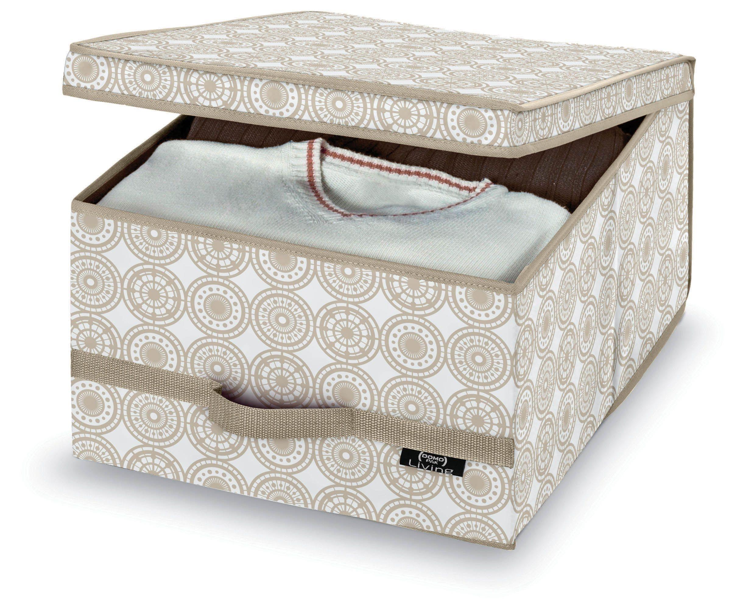 Cutie pentru depozitare din carton, Ella L Bej, L50xl38xH24 cm poza