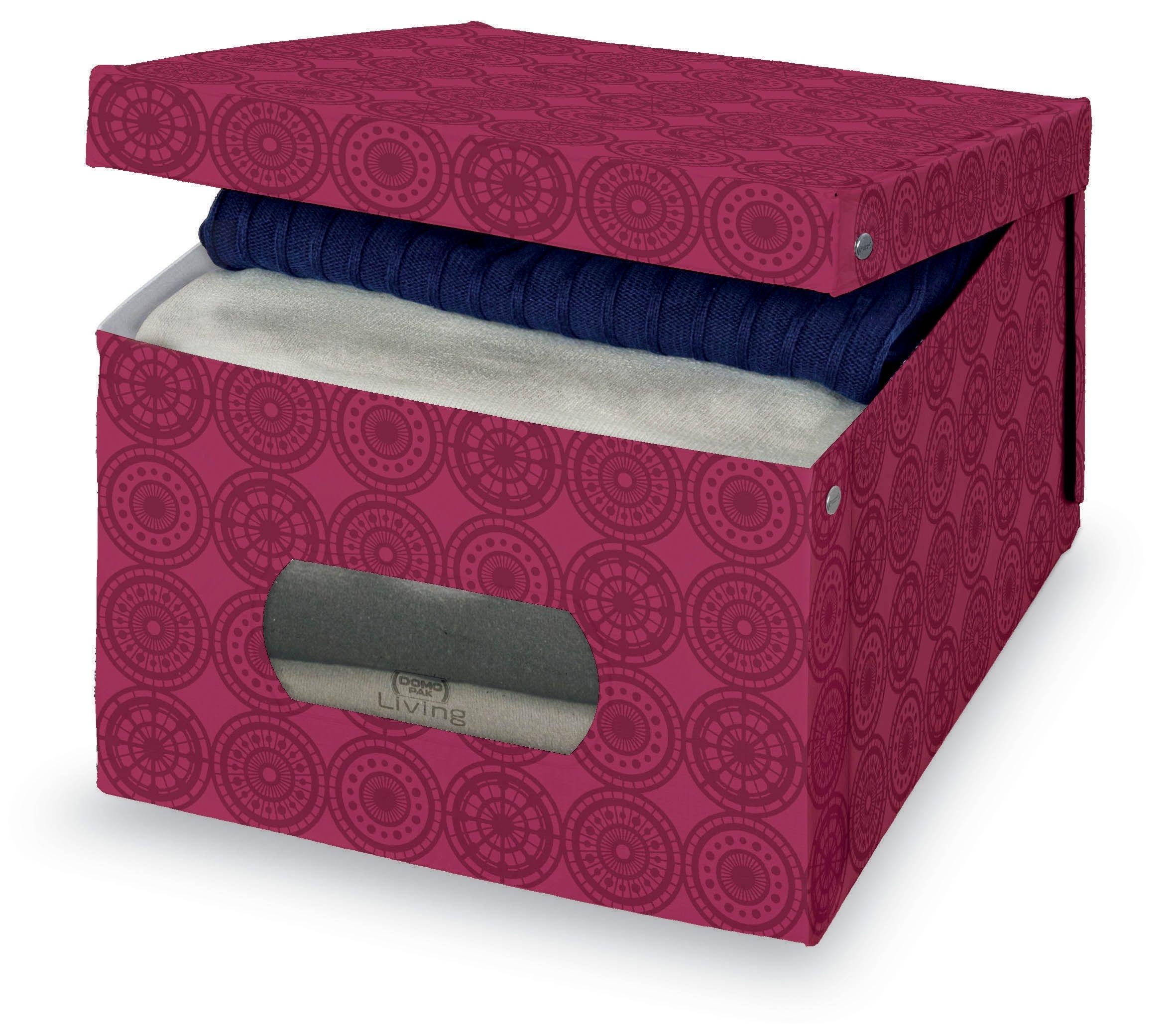Cutie pentru depozitare din carton, Ella L Bordeaux, L50xl39xH24 cm poza
