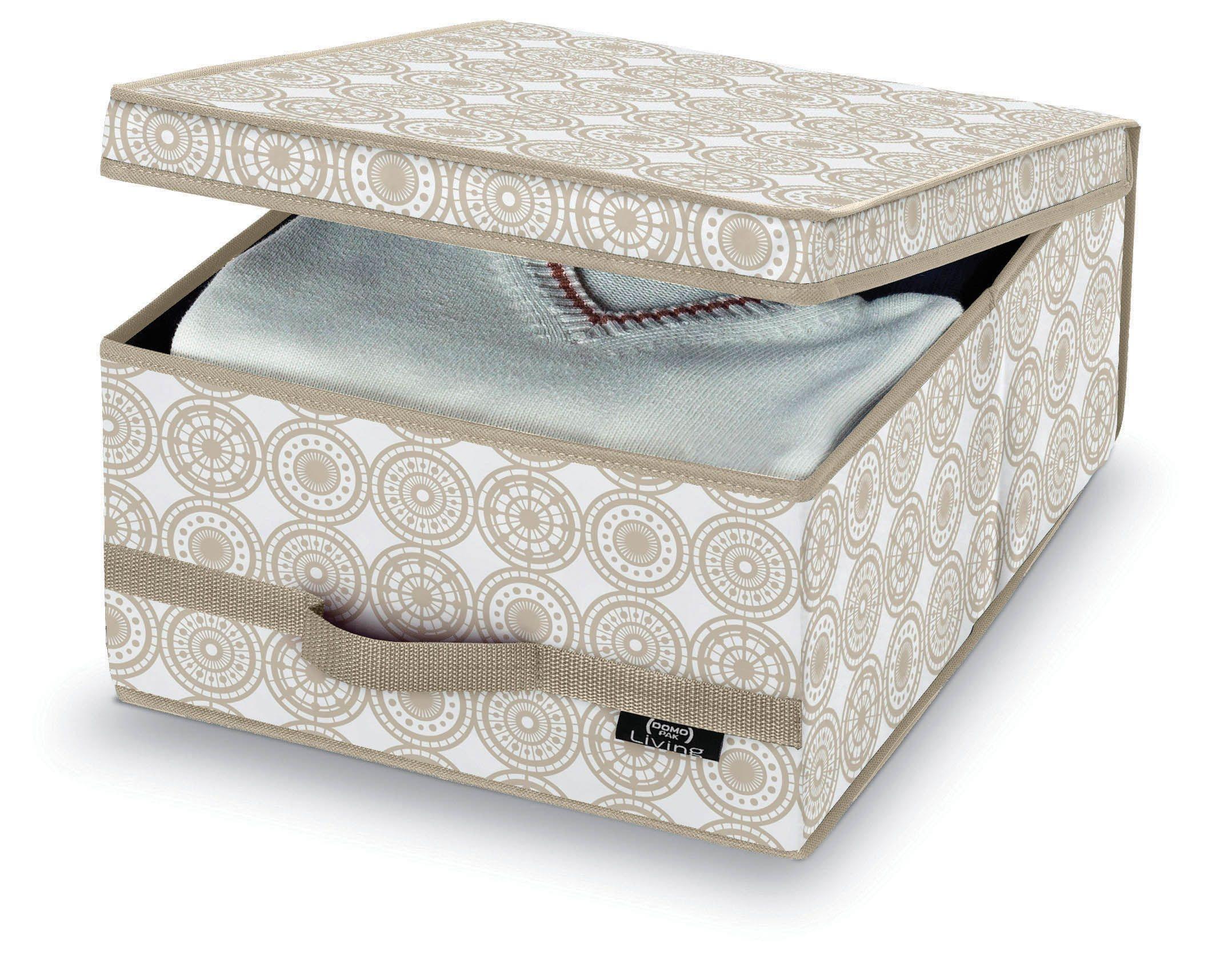 Cutie pentru depozitare din carton, Ella M Bej, L45xl35xH18 cm poza