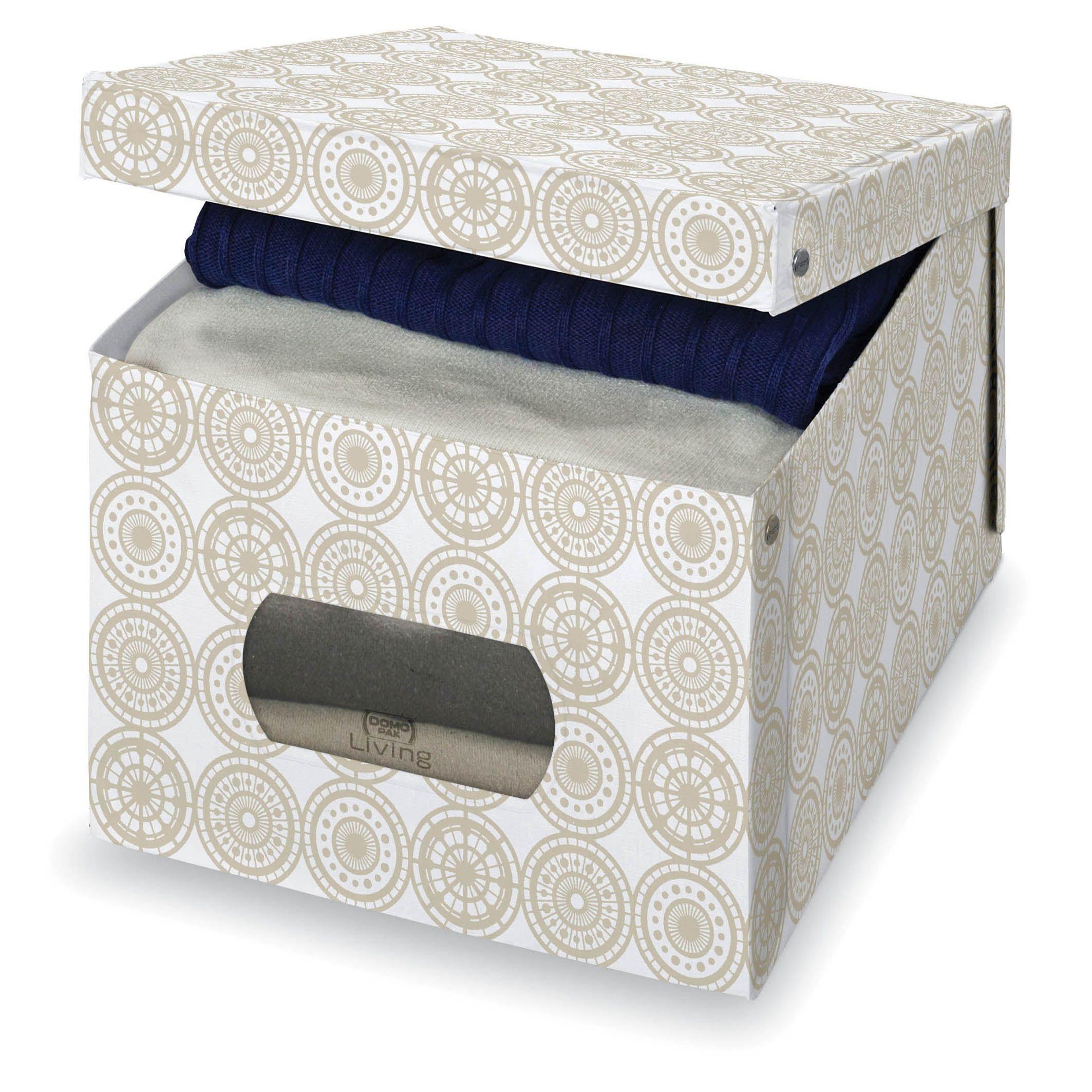 Cutie pentru depozitare din carton, Ella XL Bej, L50xl42xH31 cm somproduct.ro