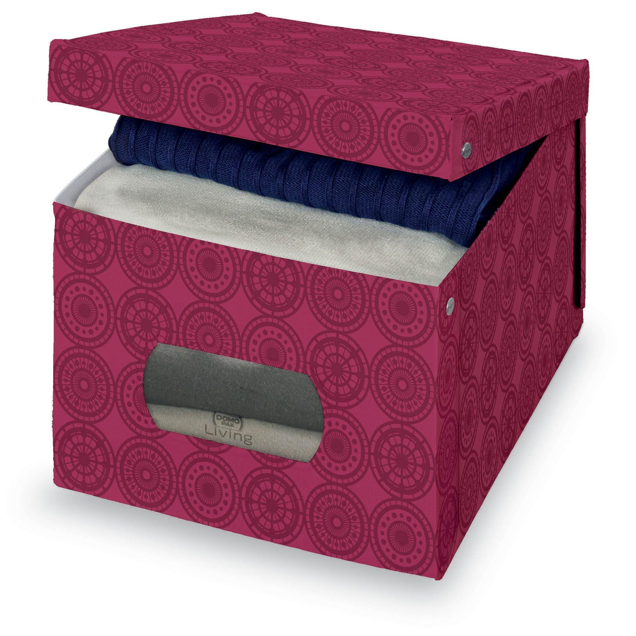 Cutie pentru depozitare din carton, Ella XL Bordeaux, L50xl42xH31 cm poza