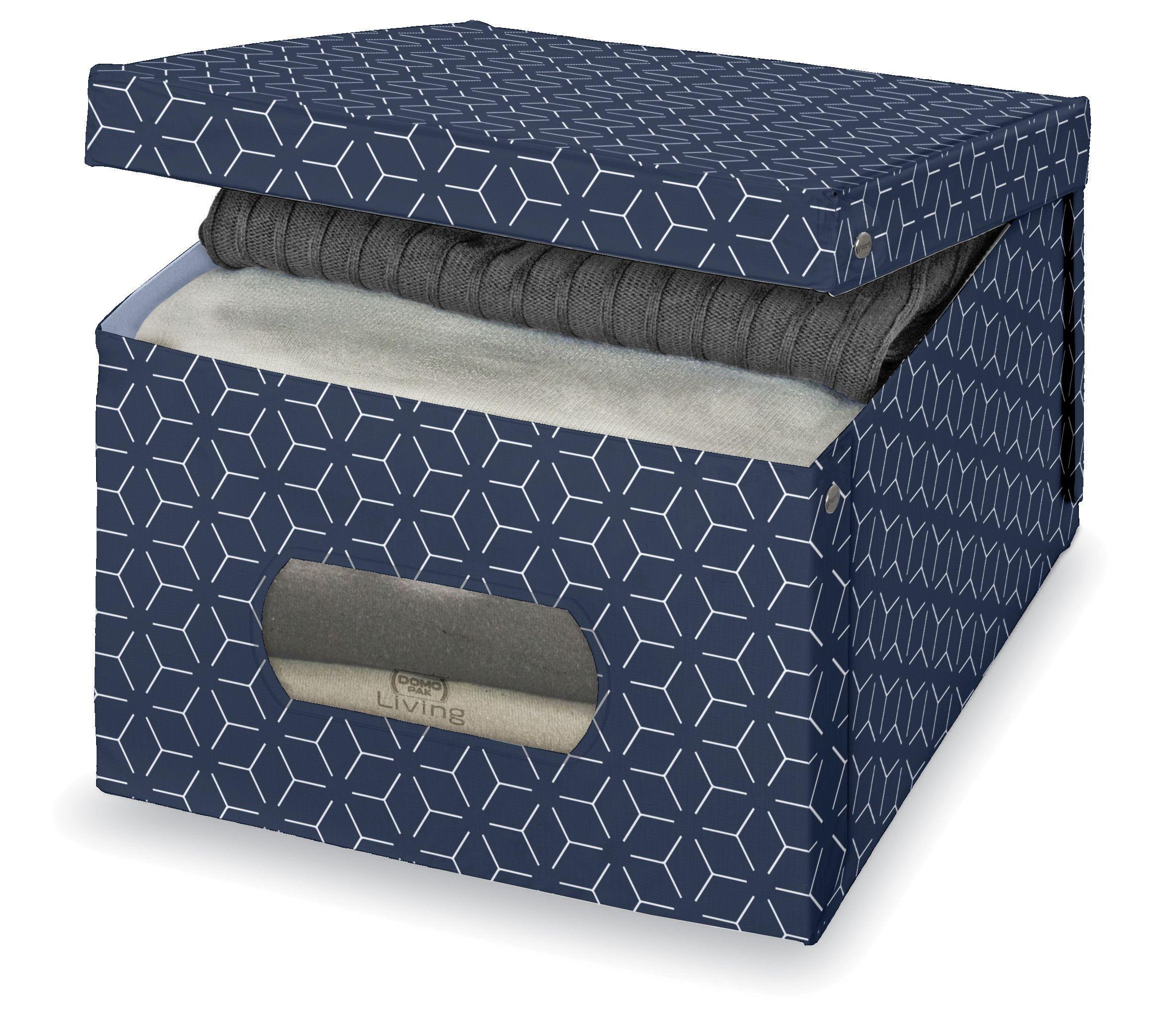 Cutie pentru depozitare din carton, Metrik L Bleumarin, L50xl39xH24 cm somproduct.ro