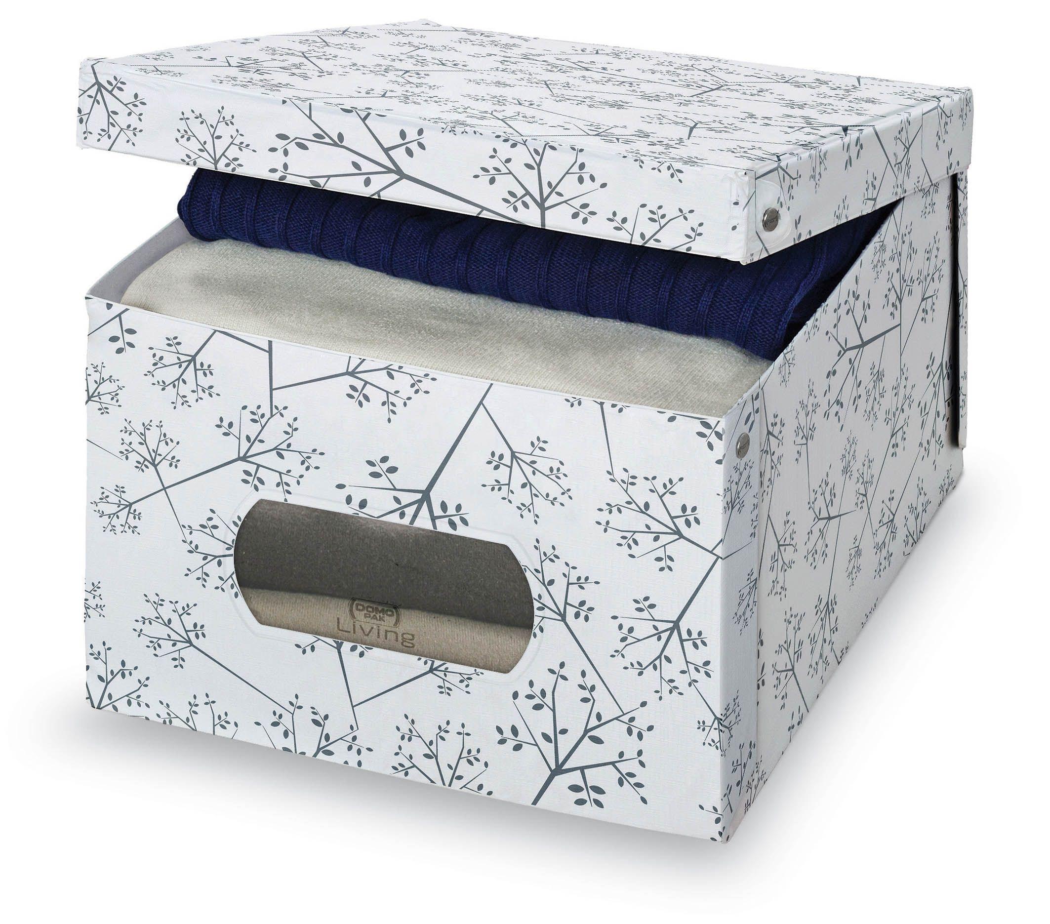Cutie pentru depozitare din carton, Scatola L Alb / Gri, L50xl39xH24 cm imagine
