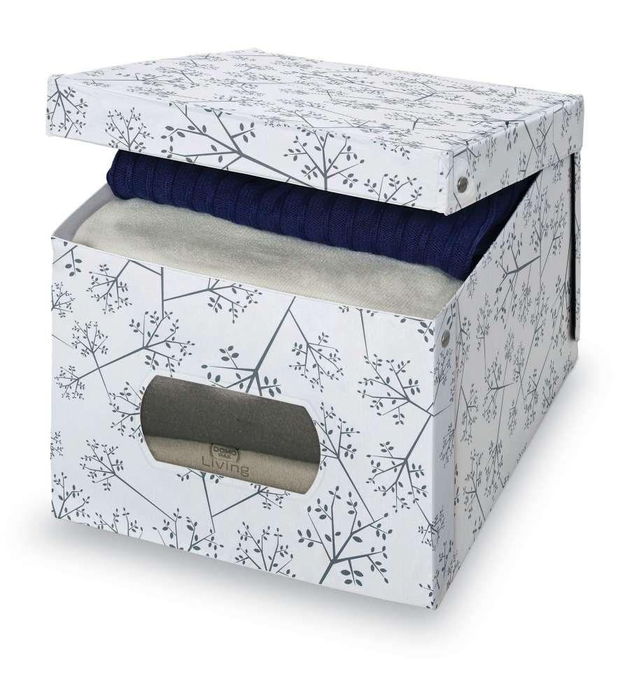 Cutie pentru depozitare din carton, Scatola XL Alb / Gri, L50xl42x31 cm imagine