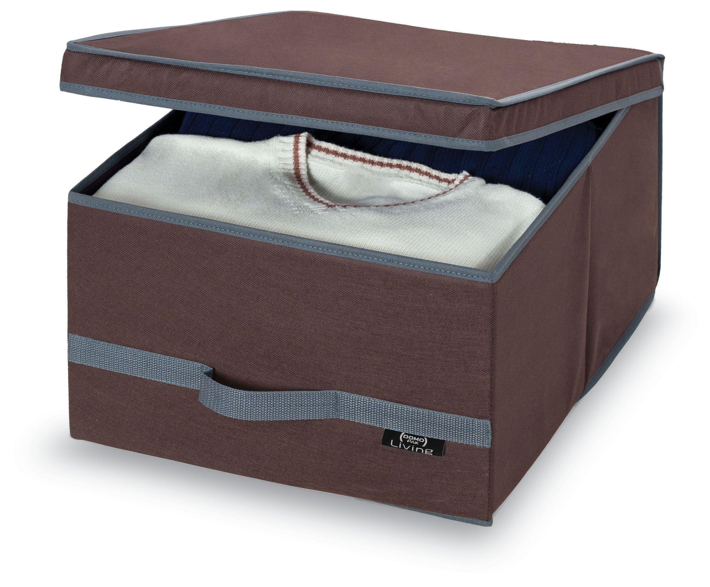 Cutie pentru depozitare din carton si polipropilena, Classic L Maro, L50xl38xH24 cm somproduct.ro