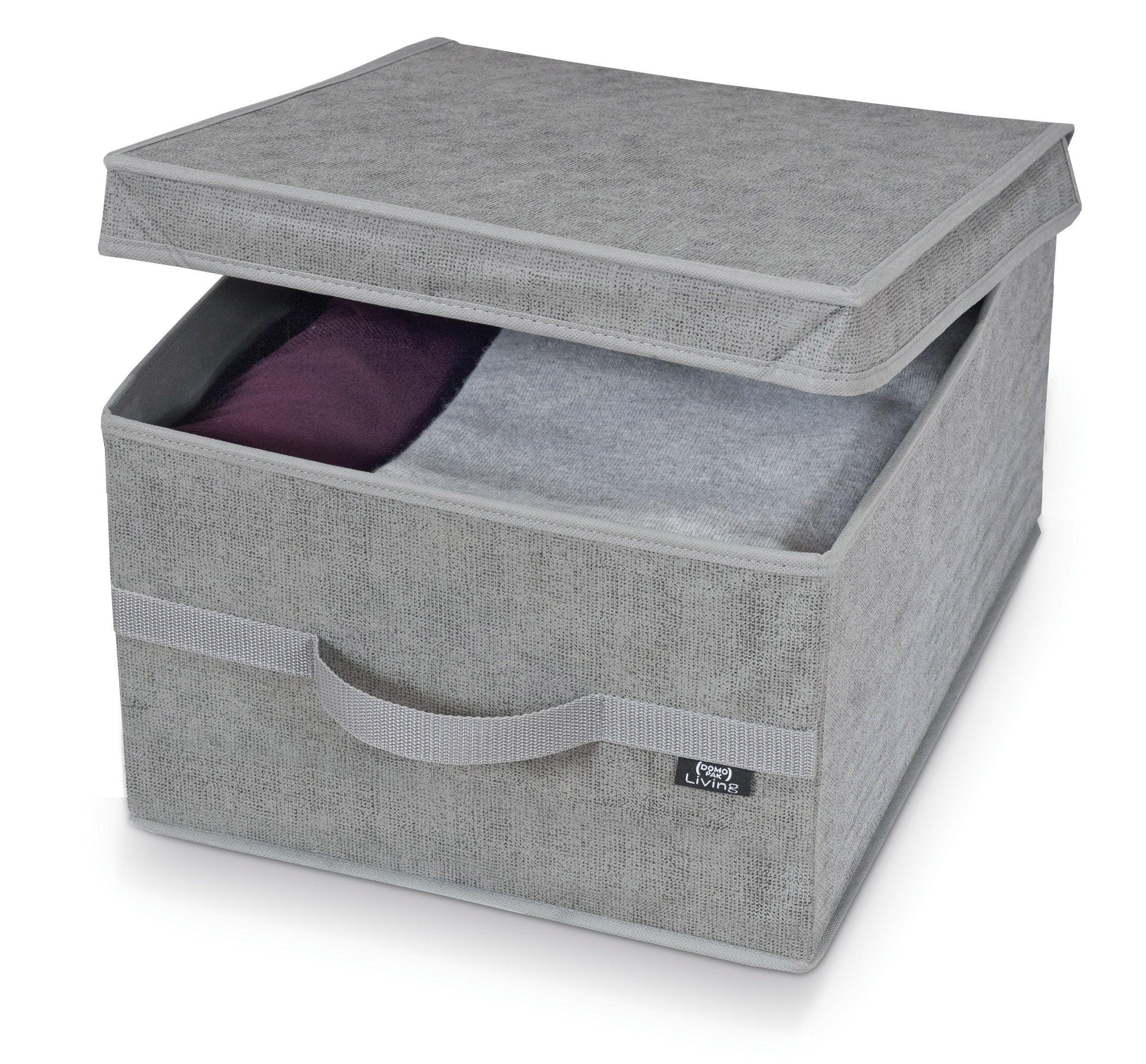 Cutie pentru depozitare din carton si polipropilena, Stone L Gri, L50xl38xH24 cm poza