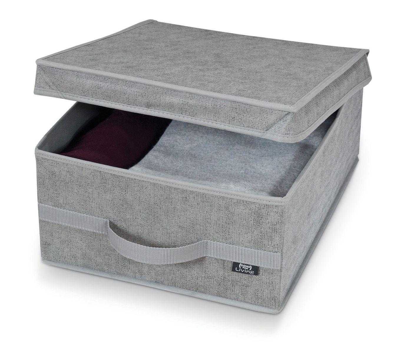 Cutie pentru depozitare din carton si polipropilena, Stone M Gri, L45xl35xH18 cm