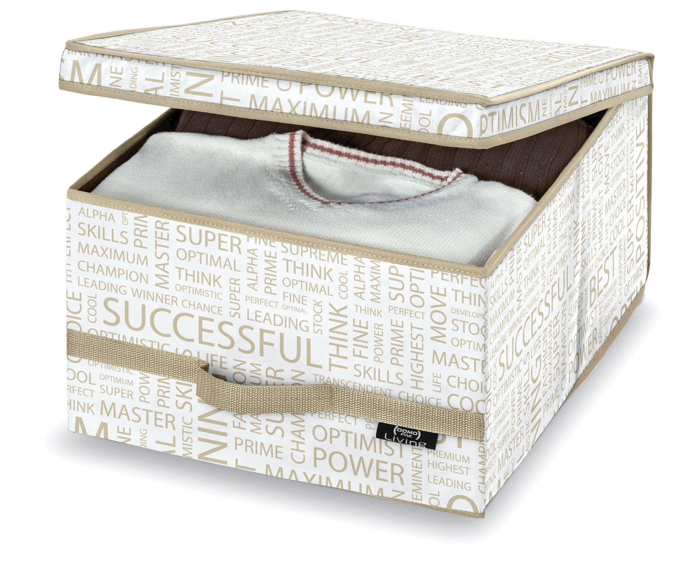 Cutie pentru depozitare din carton, Urban L Alb / Grej, L50xl38xH24 cm poza