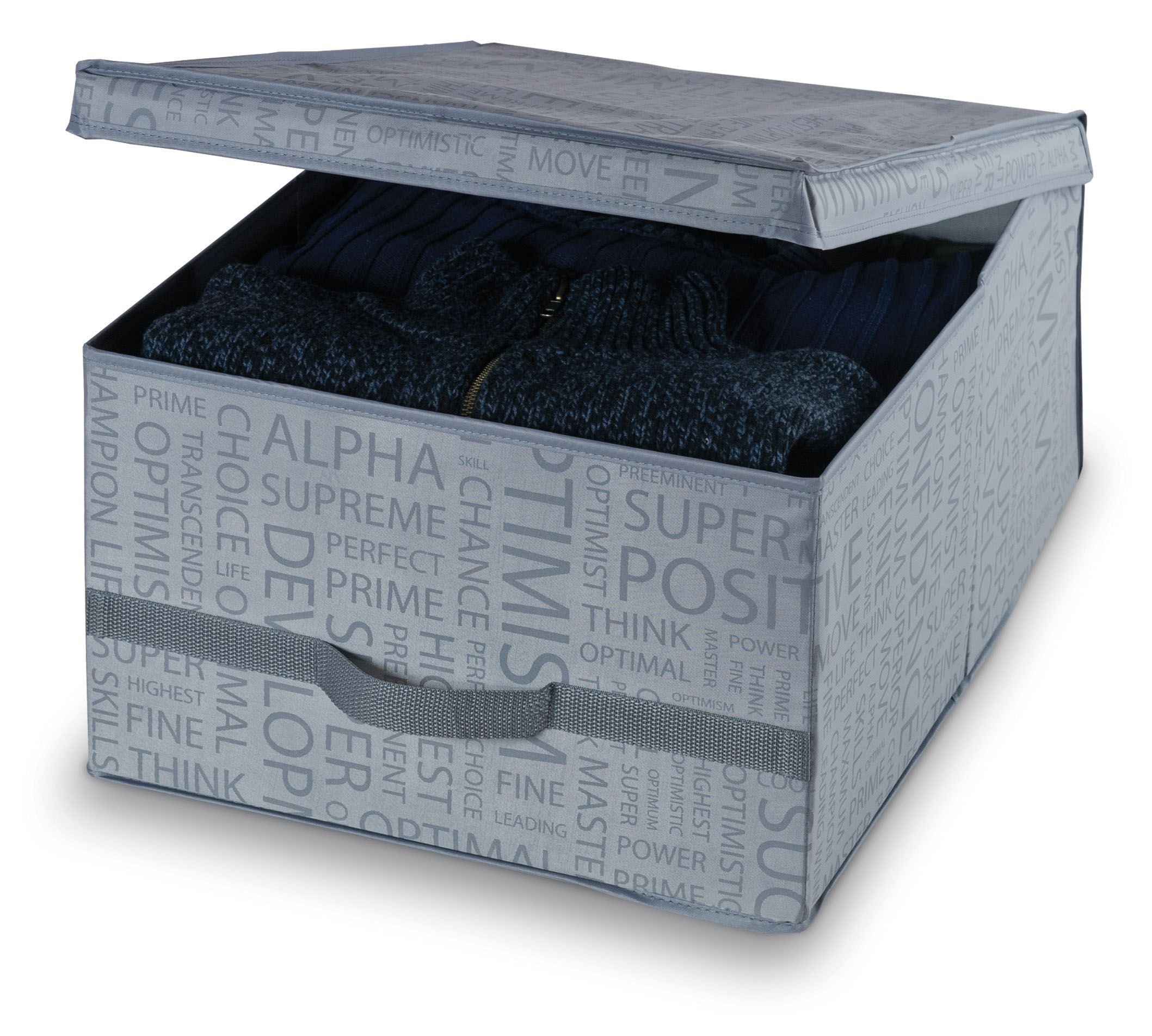 Cutie pentru depozitare din carton, Urban L Gri, L50xl38xH24cm poza