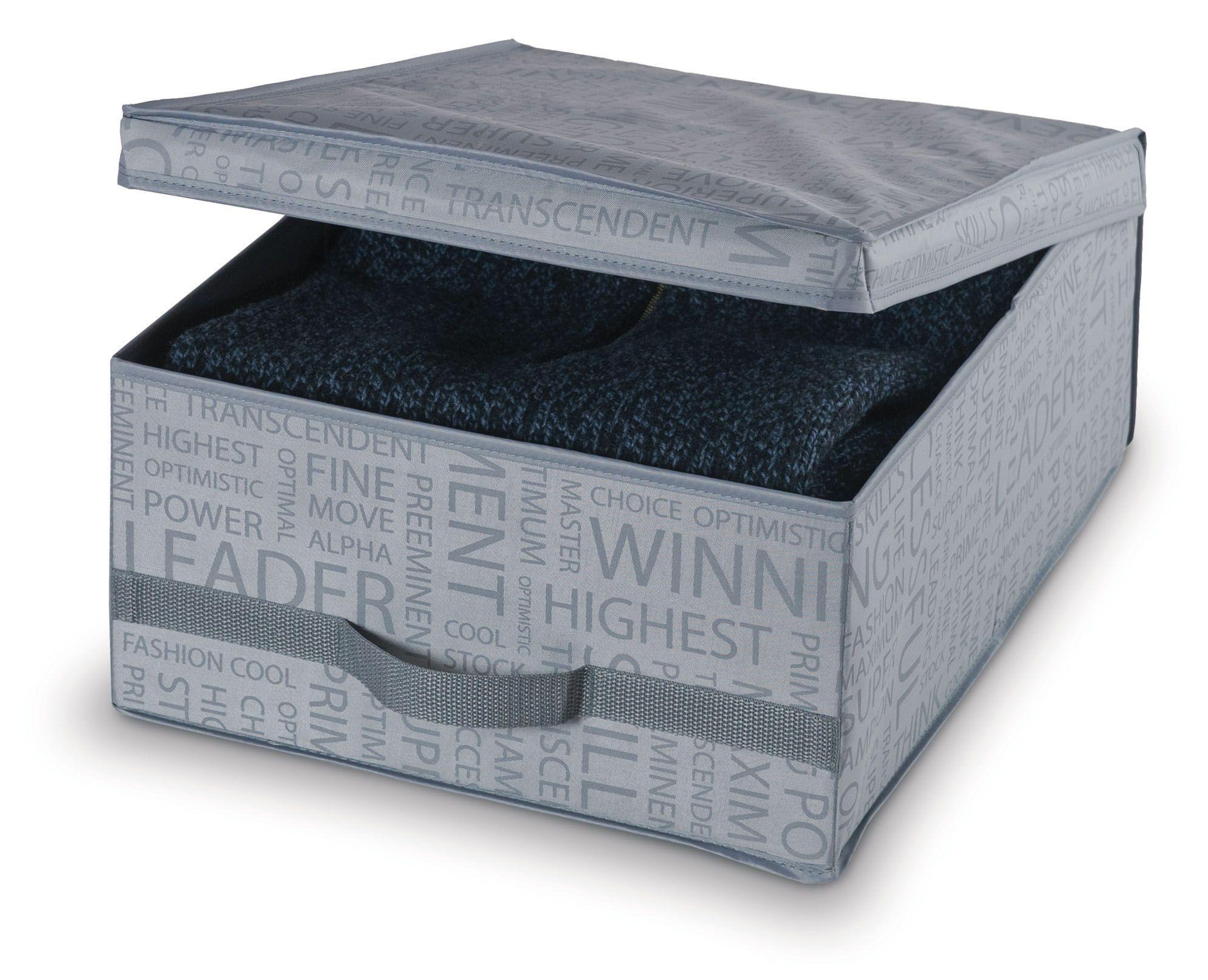 Cutie pentru depozitare din carton, Urban M Gri, L45xl35xH18 cm imagine