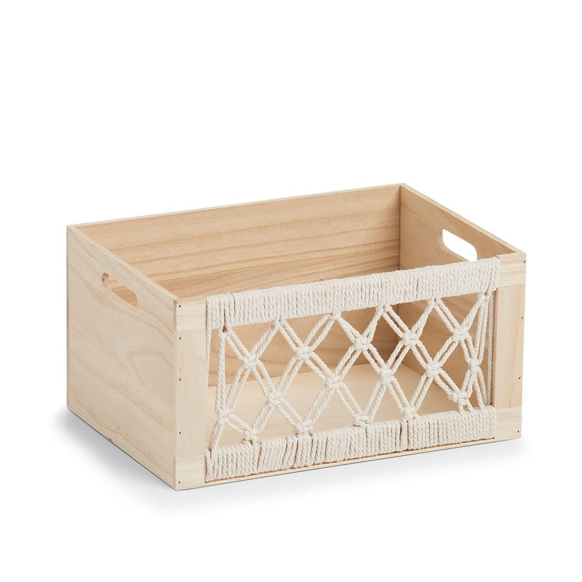 Cutie pentru depozitare din lemn, Boho II Natural, L35xl25xH18 cm