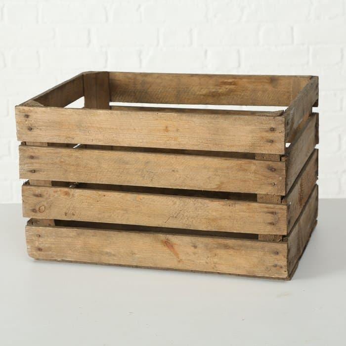 Cutie pentru depozitare, din lemn Lea Natural, L50xl40xH30 cm poza