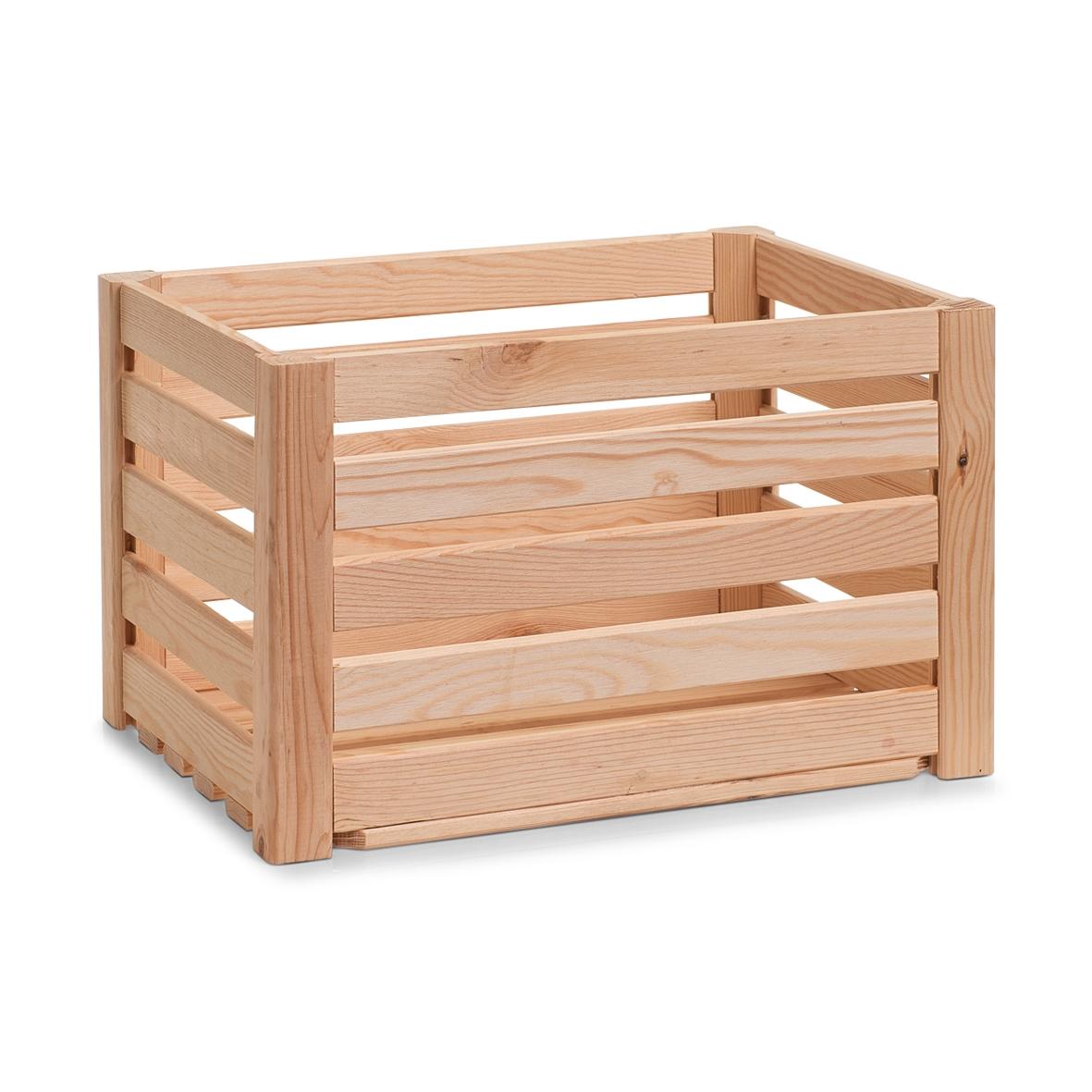 Cutie pentru depozitare din lemn, Pine Natural, L40xl30xH24 cm