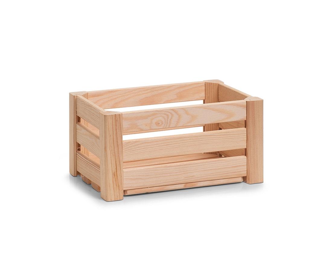Cutie pentru depozitare din lemn, Pine Small Natural, L30xl20xH15 cm imagine
