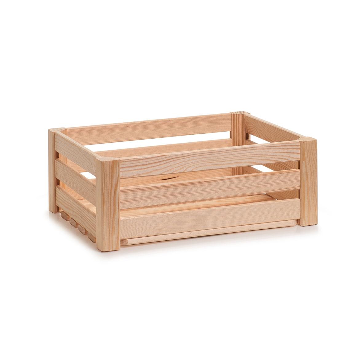 Cutie pentru depozitare din lemn, Pine Small Natural, L40xl30xH15 cm