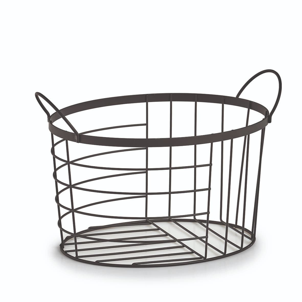 Cos pentru depozitare din metal, Basket Negru, L35xl23,5xH23 cm imagine