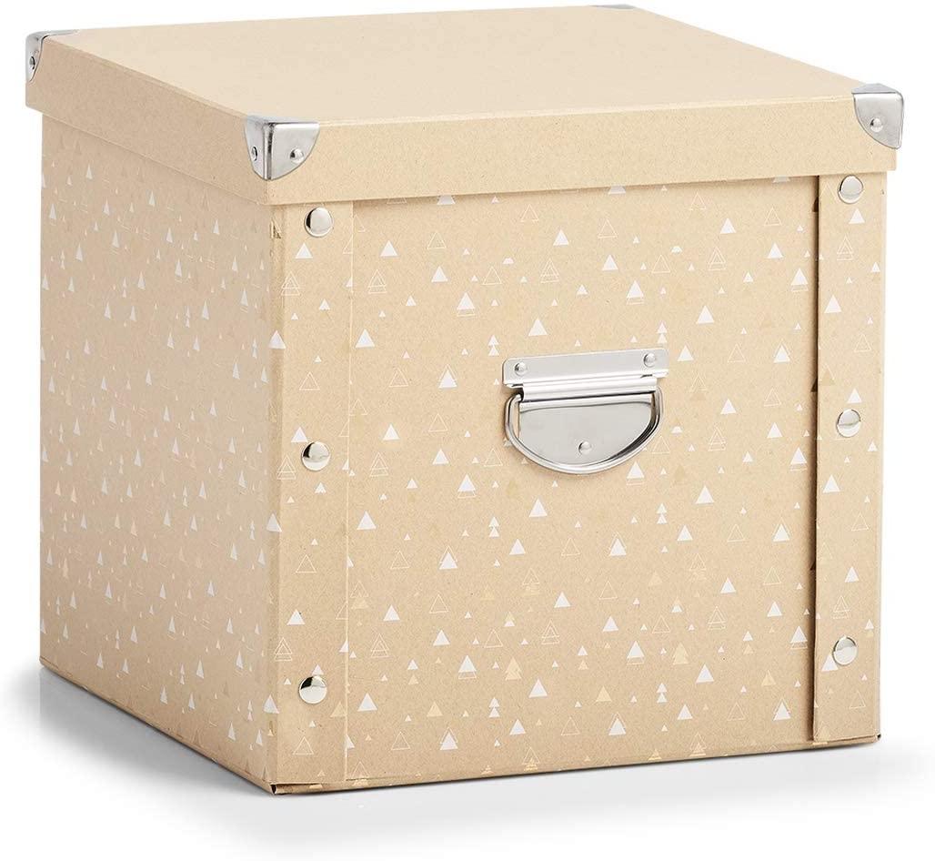 Cutie pentru depozitare globuri, din carton, Christmas Box Bej, L30xl30xH29 cm imagine