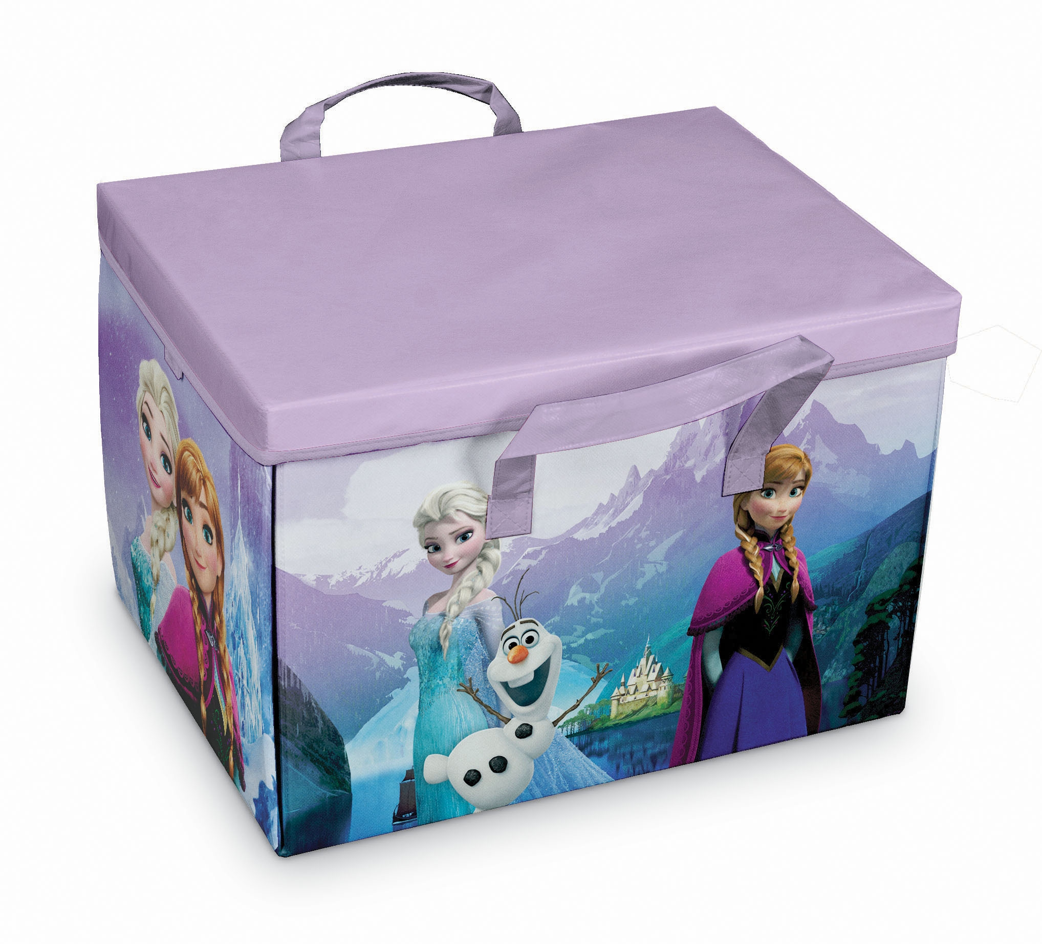 Cutie pentru depozitare jucarii 2 in 1, Frozen Play Violet, L41xl31xH28 cm imagine