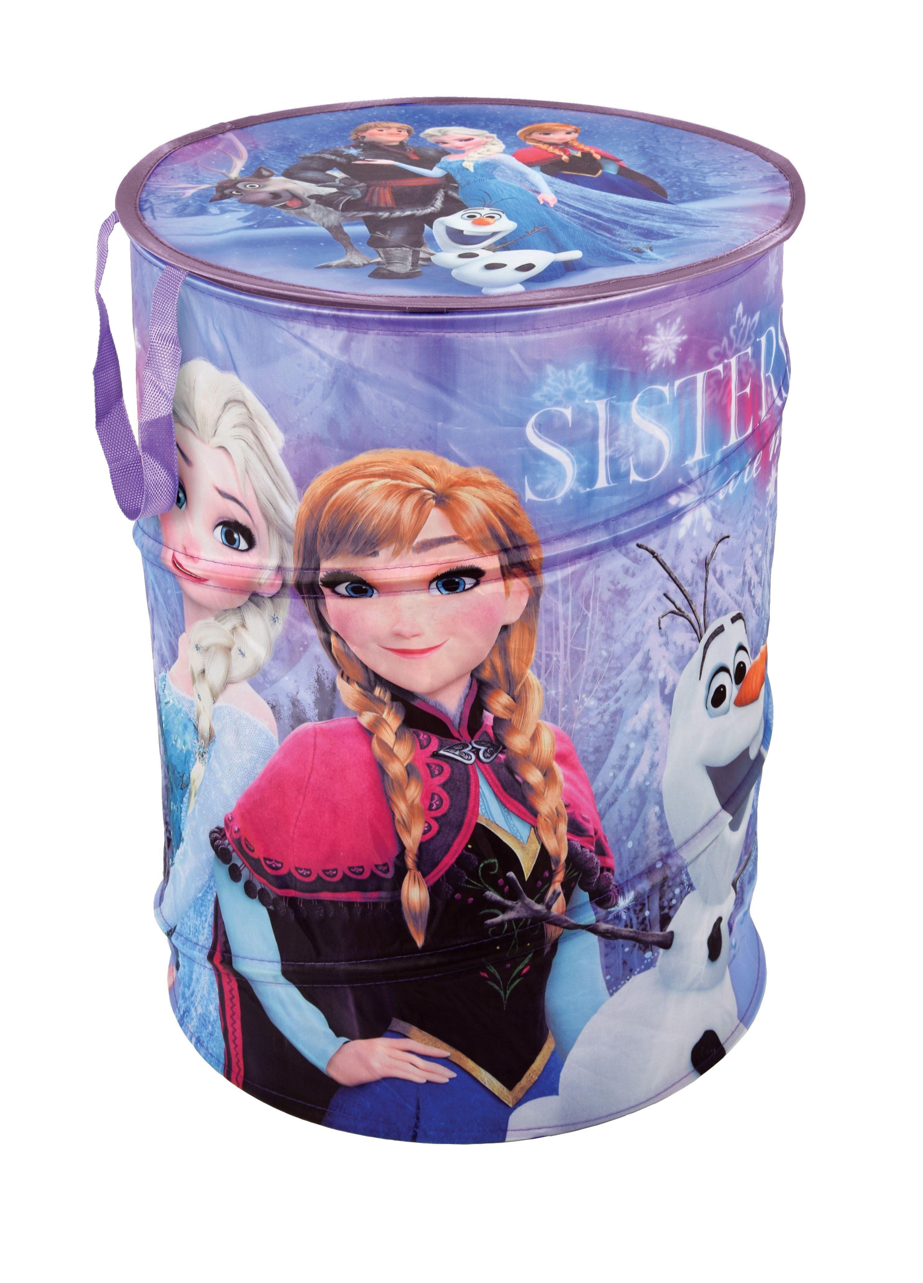 Cutie pentru depozitare jucarii, Frozen Round Violet, Ø38xH50 cm imagine