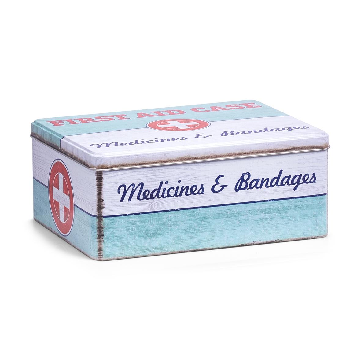 Cutie pentru depozitarea medicamentelor, First Aid Case, Metal, l21xA16,6xH8,5 cm imagine