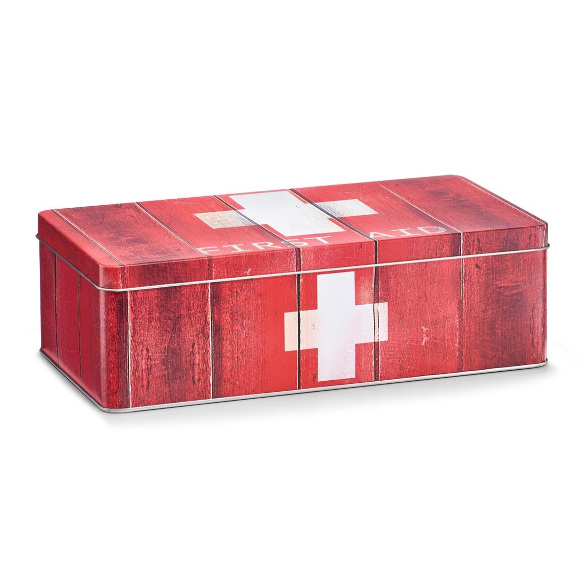 Cutie pentru depozitarea medicamentelor, First Aid, Metal Red, l26,2xA13,8xH8,2 cm imagine