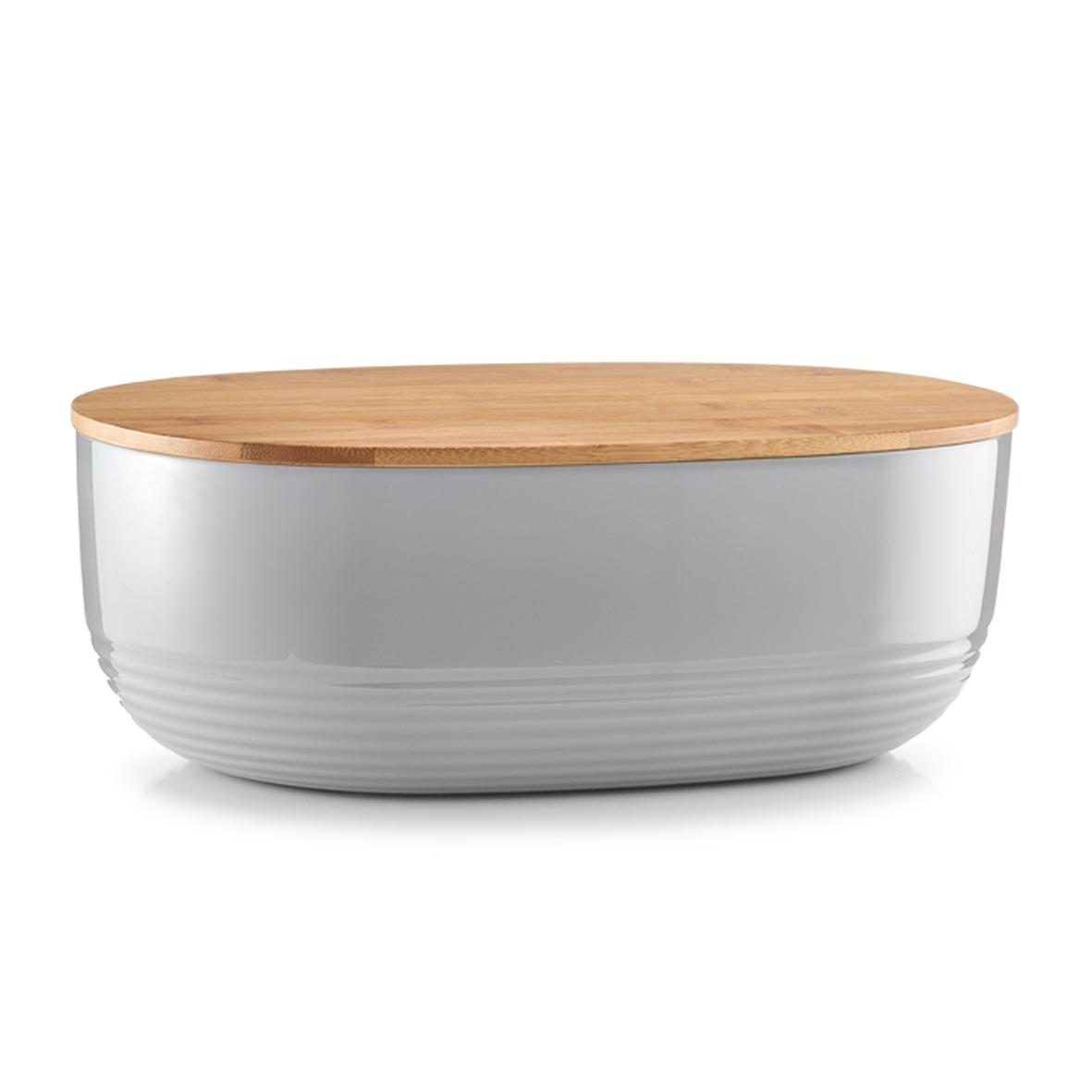 Cutie pentru paine, Bamboo Grey, l37,5xA23xH14 cm imagine