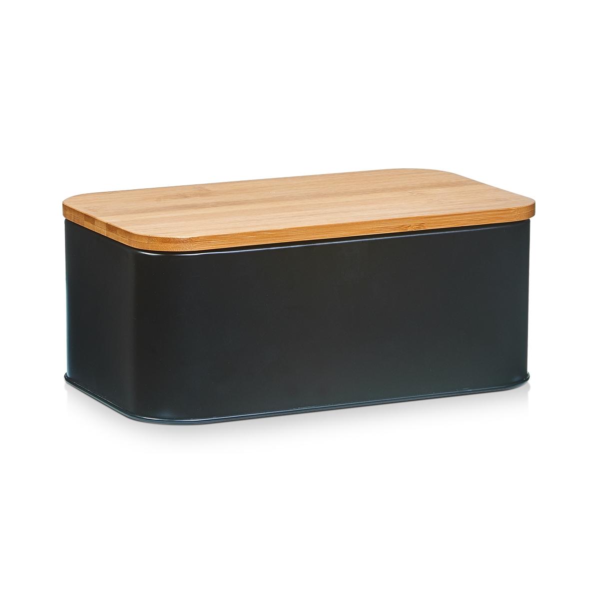 Cutie pentru paine Matte, Bamboo Metal, l31xA18xH12,5 cm-Negru imagine