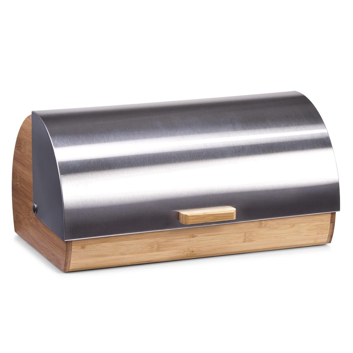 Cutie pentru paine Steel, Bamboo, l39xA25,5xH18,5 cm imagine
