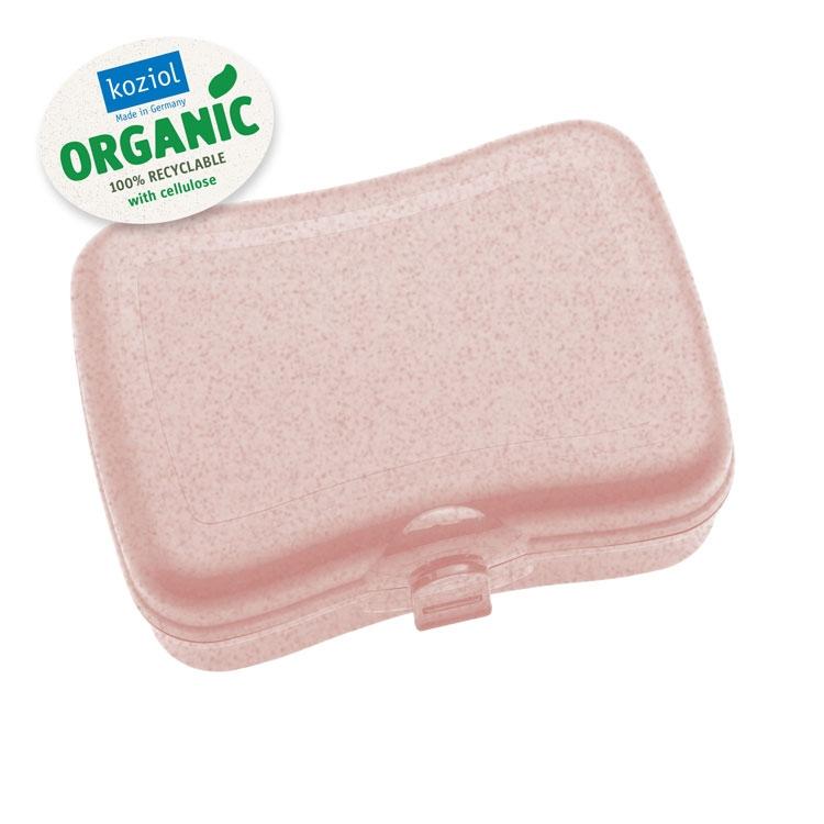 Cutie pentru pranz, 100% Reciclabil, Basic Organic Roz, L16,8xl12,2xH6,6 cm poza
