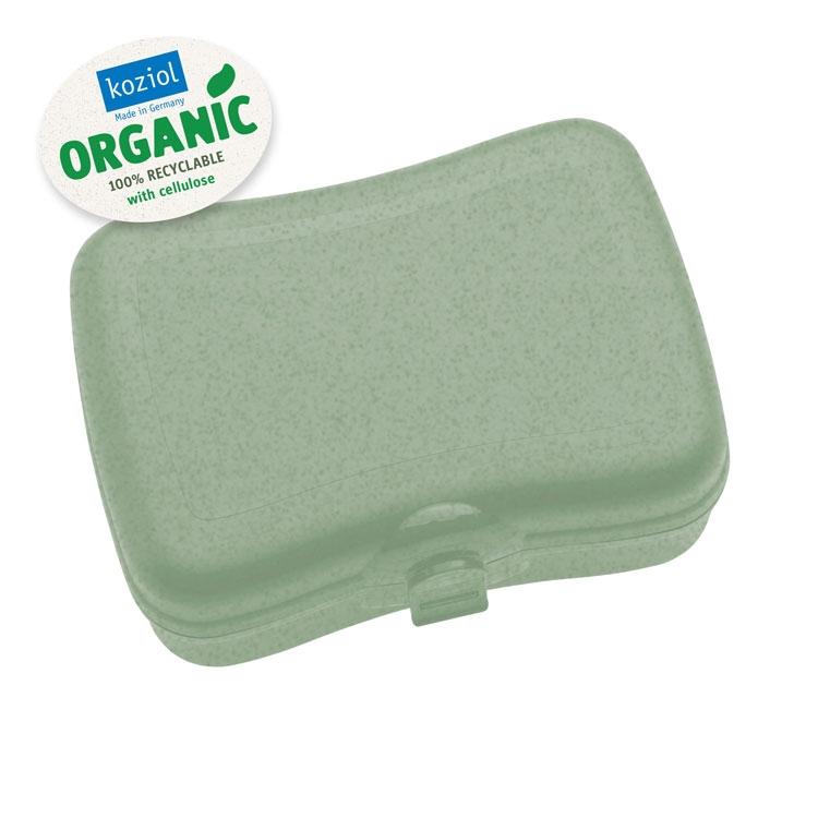 Cutie pentru pranz, 100% Reciclabil, Basic Organic Verde, L16,8xl12,2xH6,6 cm poza
