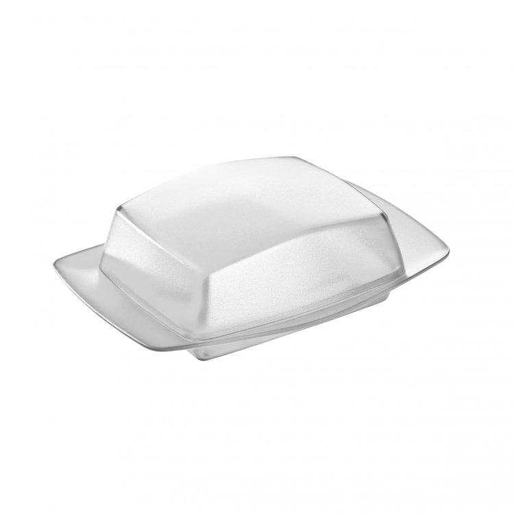 Cutie pentru unt, din termoplastic, Rio Alb / Clear, L12,1xl17,5xH5,8 cm poza
