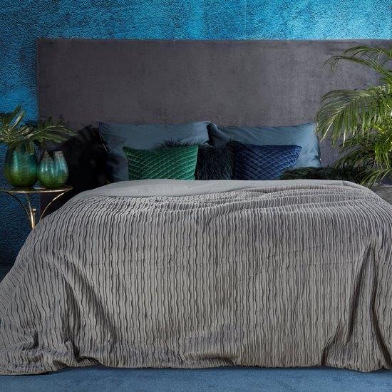 Cuvertura Avilla Premium Velvet Gri, 220 x 240 cm imagine
